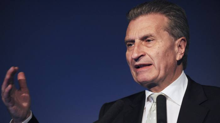 Germany's EU commissioner Oettinger apologises for rude
