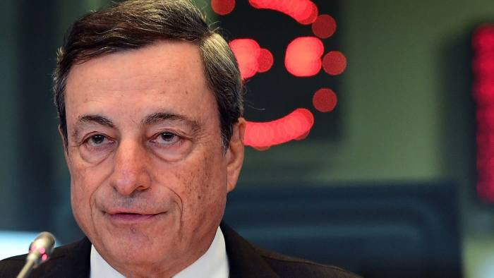 European Central Bank President Mario Draghi addresses the Committee on Economic and Monetary Affairs (ECON) during a hearing on monetary dialogue, at the European Parliament in Brussels, on September 26, 2016. / AFP PHOTO / EMMANUEL DUNANDEMMANUEL DUNAND/AFP/Getty Images