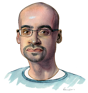 Illustration by James Ferguson of Junot Diaz