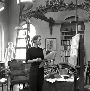 Tove Jansson at her home in Helsinki, 1956