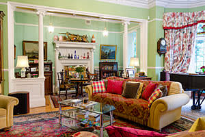 Lord Bhattacharyya's home: the dining room where charity concerts are held
