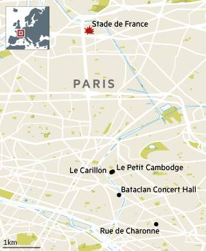 Paris map shooting