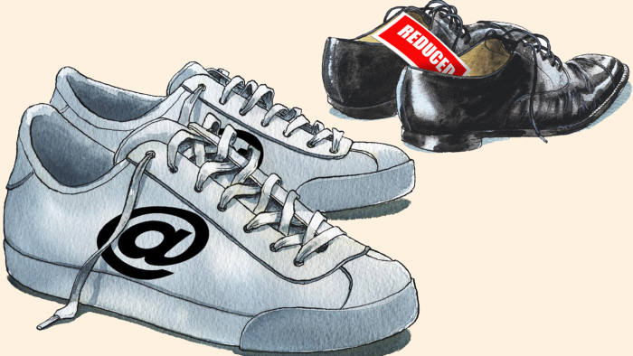 An illustration of shoes