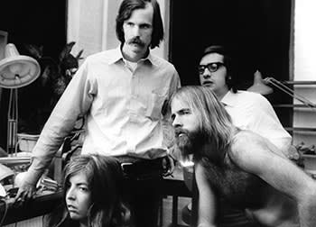 'Woodstock' (1970): Schoonmaker at work with Scorsese (far right)