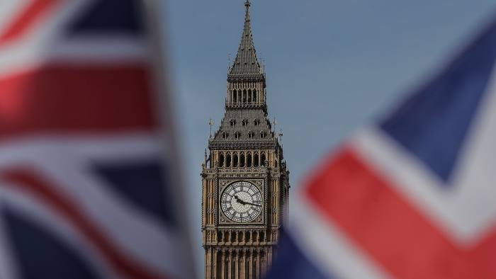 Union flags fly near the Houses of Parliament, comprising the House of Commons and the House of Lords, in London on March 13, 2017. British Prime Minister Theresa May is expected to trigger Brexit this week by formally notifying the European Union of Britain's intention to leave the bloc, sending her country into uncharted waters. The legislation empowering May to put Britain on a course that no EU member state has ever taken returns to parliament for its final stages on Monday as European capitals prepare for mammoth negotiations. / AFP PHOTO / Daniel LEAL-OLIVASDANIEL LEAL-OLIVAS/AFP/Getty Images