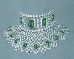 A Romanov necklace recreated by Fabergé from an 1885 sketch