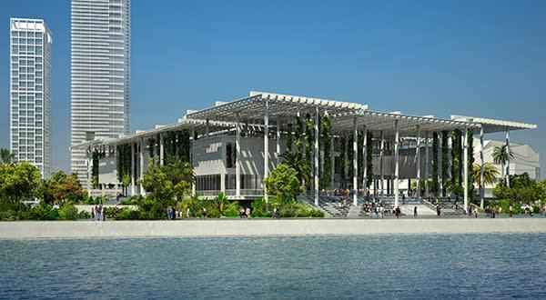 Design for the new Pérez Art Museum of Miami-Dade County
