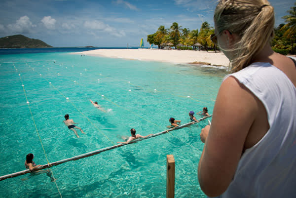 Swim sessions in the Caribbean overseen by Rebecca Adlington