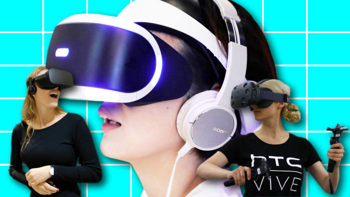 bcaa0b2aa550 PlayStation VR (centre) is outselling Oculus (left) and HTC Vive headsets ©  FT montage  Bloomberg   PA Wire   REUTERS