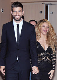 Gerard Piqué with Shakira in March 2014