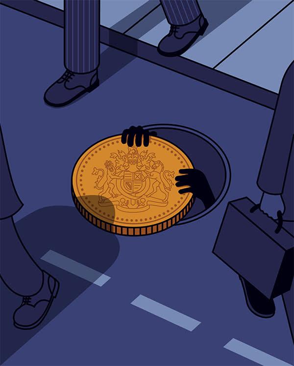 London banking secrecy illustration by Harry Haysom