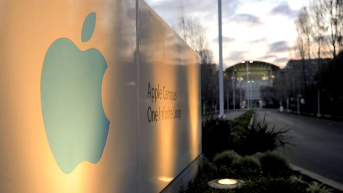 Apple Inc.'s headquarters stands in Cupertino, California, U.S. Photographer: Noah Berger/Bloomberg News.