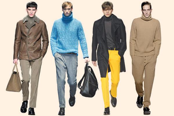From left: Bottega Veneta, Gucci, Hermès, Dries Van Noten