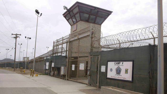 The entrance to Camp 5 and Camp 6 at the US military's Guantánamo Bay detention centre