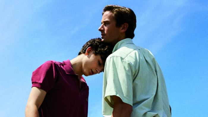 No Merchandising. Editorial Use Only. No Book Cover Usage Mandatory Credit: Photo by Moviestore/REX/Shutterstock (9224464f) Timothee Chalamet, Armie Hammer Call Me by Your Name - 2017