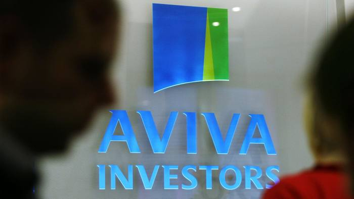The company logo for Aviva Investors is displayed at the headquarters in London, U.K., on Monday, Sept. 29. 2008. Aviva Investors the global asset management business of Aviva plc was formed from several Aviva asset management businesses, including Morley in the UK, Hibernian Investment Managers in Ireland and Portfolio Partners in Australia. Photographer: Jason Alden/Bloomberg News