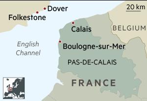 Calais France map