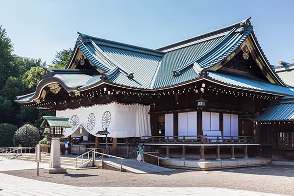 The Yasukuni shrine, which she used to visit every year