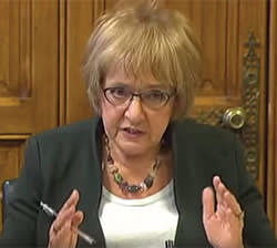 Margaret Hodge chairing parliament's public accounts committee