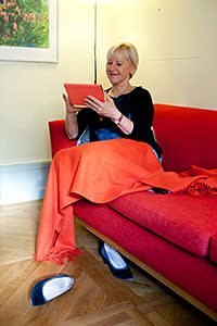 Margot Wallstrom in her private quarters at the Ministry for Foreign Affairs