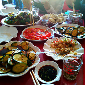 Dishes from the Shandong restaurant
