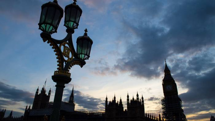 General view of ongoing restoration works at the Houses of Parliament in Westminster, London. PRESS ASSOCIATION Photo. Picture date: Tuesday October 3, 2017. Photo credit should read: Dominic Lipinski/PA Wire