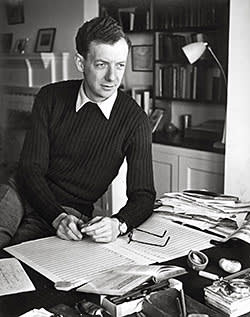 Benjamin Britten, Aldeburgh festival's founder, c1949