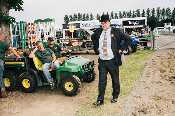 A steward at the South of England Show in West Sussex