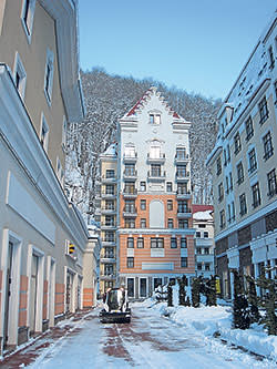 Brand new buildings at Rosa Khutor
