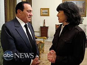 Christiane Amanpour interviewing Hosni Mubarak, 2011