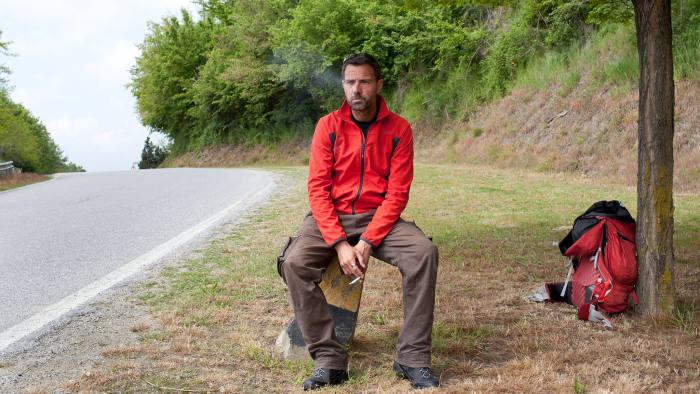 Jérôme Kerviel takes a break on his pilgrimage from Rome to Paris, where he faces jail
