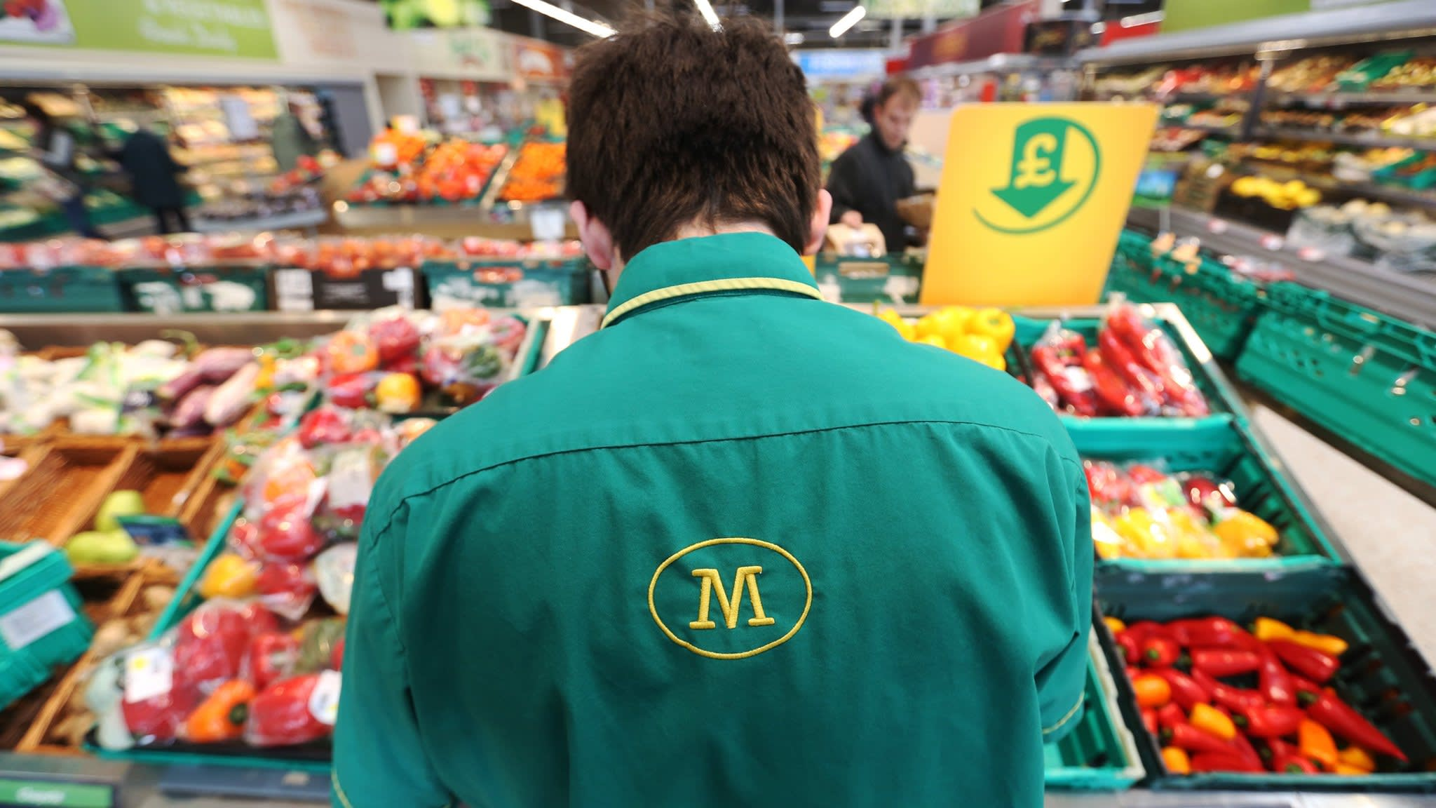 Supermarkets were the London's sharpest fallers