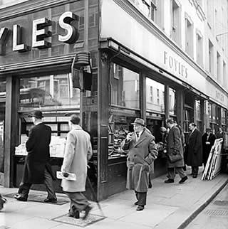 The old shop on Charing Cross Road in 1958