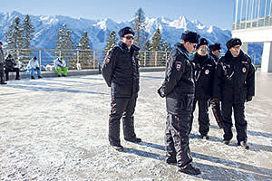 Police at Gazprom's biathlon and cross-country ski complex