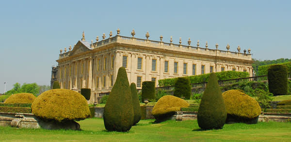 Chatsworth House seen from the grounds