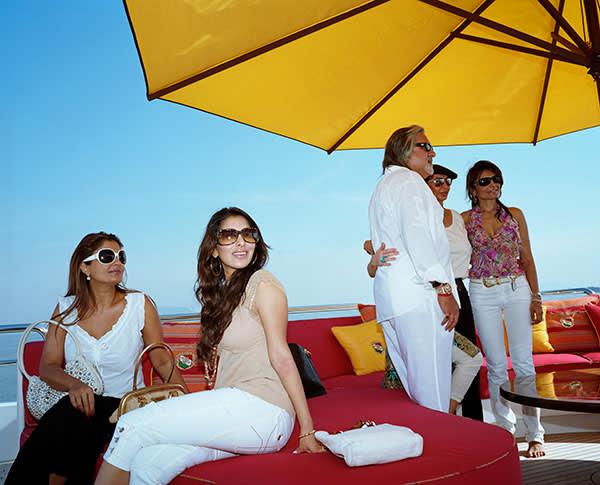 Vijay Mallya's 51st birthday party, aboard the Indian Empress superyacht, 2007
