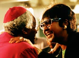 Desmond Tutu and Winnie Mandela