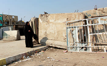concrete walls in Baghdad, Iraq