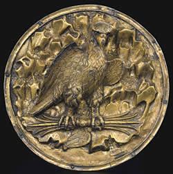 Greek gilt silver roundel (3rd-1st century BC)