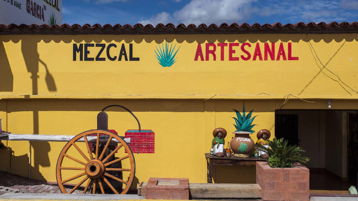 Wheel of fortune: a mezcal store in Oaxaca state sells the artisanal spirit