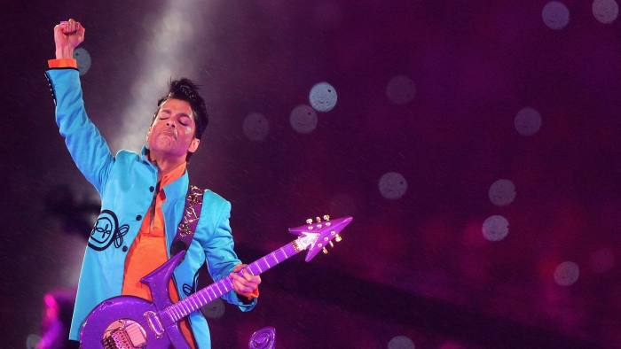 MIAMI GARDENS, FL - FEBRUARY 04: Musician Prince performs during the
