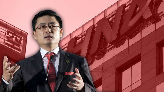 Montage photo of Adam Tan and HNA signage