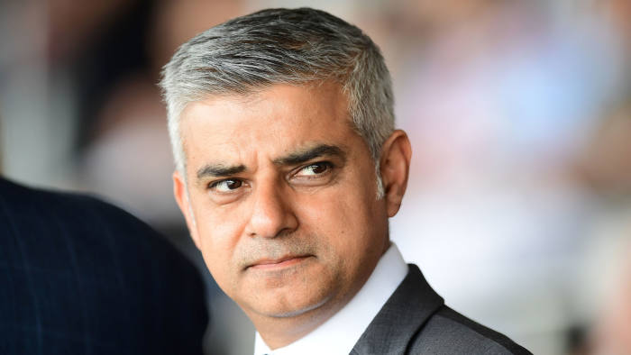 """Britain's new London Mayor Sadiq Khan at...Britain's new London Mayor Sadiq Khan attends the Yom HaShoah Commemoration, the UK Jewish community's Holocaust remembrance ceremony, in Barnet, north London, on May 8, 2016. London's new Muslim mayor Sadiq Khan accused Prime Minister David Cameron on Sunday of using """"Donald Trump playbook"""" tactics to try to divide communities in a bid to prevent his election. Khan won 57 percent of the vote in the May 5 mayoral election, securing 1.3 million votes to see off multimillionaire Tory Zac Goldsmith and making history as the first Muslim mayor of a major Western capital. / AFP PHOTO / LEON NEALLEON NEAL/AFP/Getty Images"""
