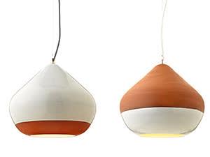 Terracotta lights, £290, handandeyestudio.co.uk