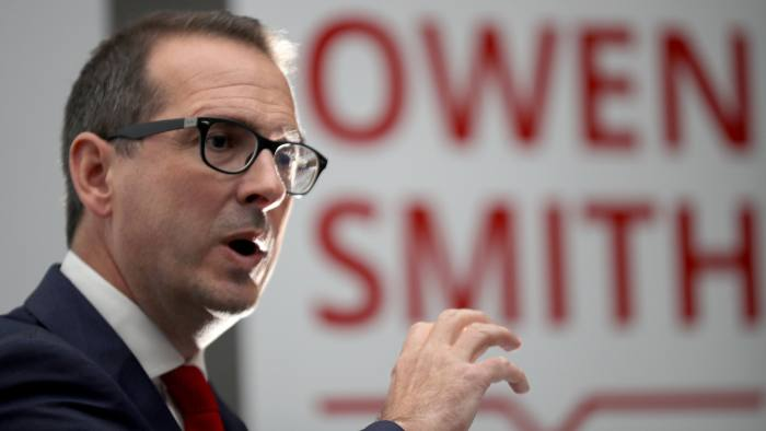 SALFORD, ENGLAND - AUGUST 15: Owen Smith MP delivers his keynote speech on the NHS to an audience at Salford University during his labour leadership campaign on August 15, 2016 in Salford, England. The result of the Labour leadership contest between Jeremy Corbyn and Owen Smith is due to be announced on September 24. (Photo by Christopher Furlong/Getty Images)