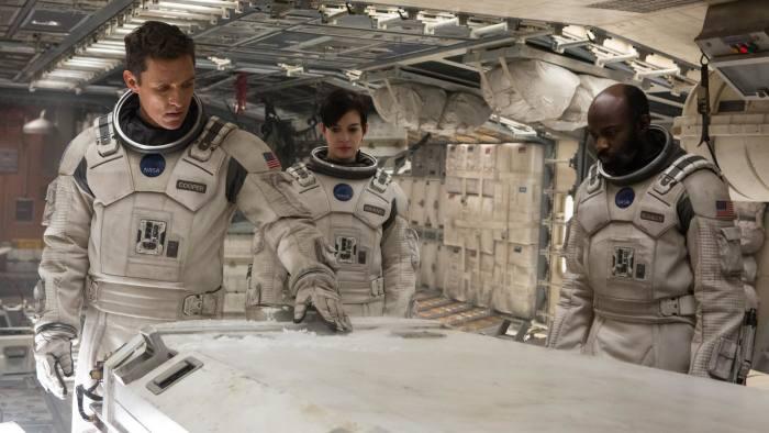 From left, Matthew McConaughey, Anne Hathaway and David Gyasi in 'Interstellar'