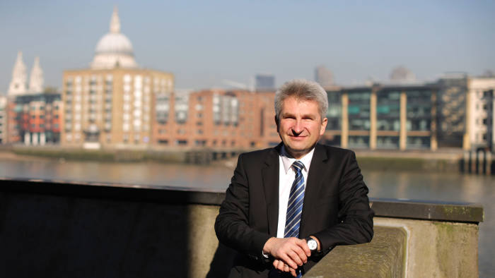 Tuesday 19th February. Prof. Dr. Andreas Pinkwart. Dean of HHL Leipzig, photographed in London for FT Business Education.