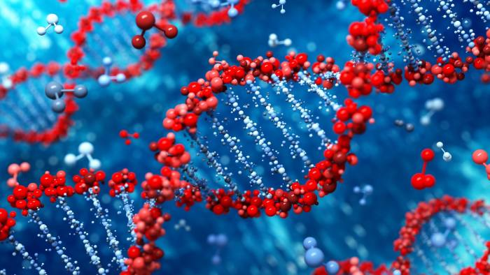 DNA background ID 43067647 © Leigh Prather/Dreamstime.com DNA abstract background - 3d render