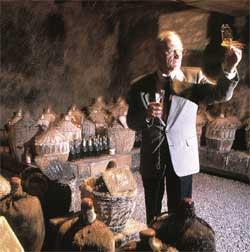 A tasting inside the cellars of AE Dor in Jarnac