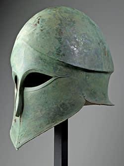 Corinthian bronze helmet (6th century BC)